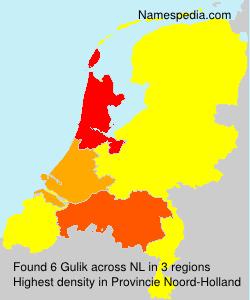 Surname Gulik in Netherlands