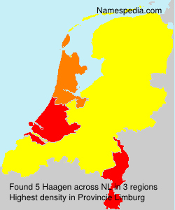 Surname Haagen in Netherlands