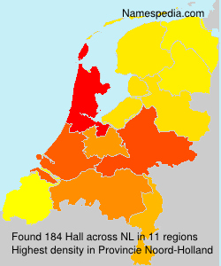 Surname Hall in Netherlands