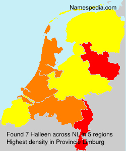 Surname Halleen in Netherlands