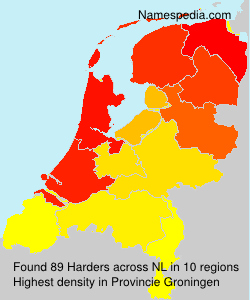 Surname Harders in Netherlands