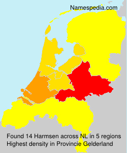 Surname Harmsen in Netherlands