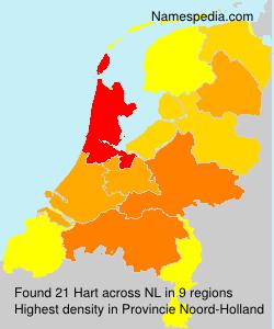 Surname Hart in Netherlands
