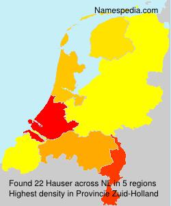 Surname Hauser in Netherlands