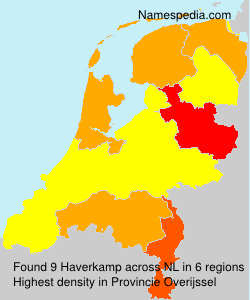 Surname Haverkamp in Netherlands