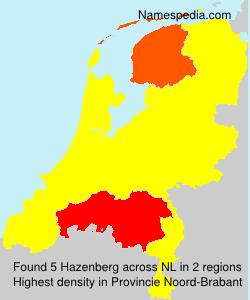Surname Hazenberg in Netherlands