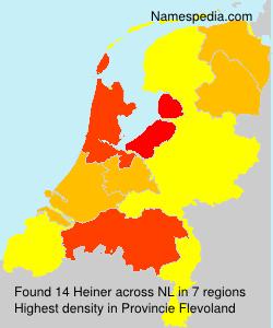 Surname Heiner in Netherlands