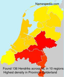 Surname Hendriks in Netherlands
