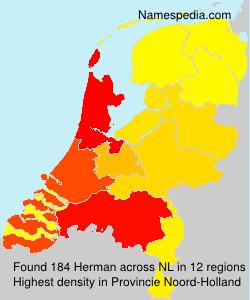 Surname Herman in Netherlands
