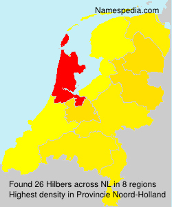 Surname Hilbers in Netherlands