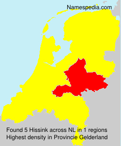Surname Hissink in Netherlands