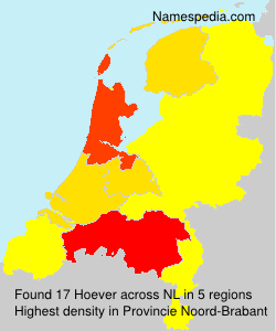 Surname Hoever in Netherlands