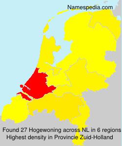 Surname Hogewoning in Netherlands