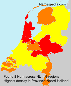 Surname Horn in Netherlands