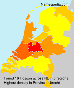 Surname Hosson in Netherlands