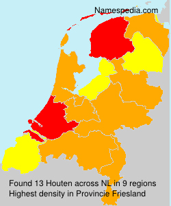 Surname Houten in Netherlands