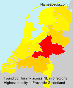 Surname Huinink in Netherlands
