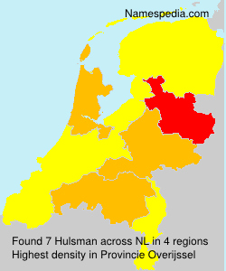 Surname Hulsman in Netherlands