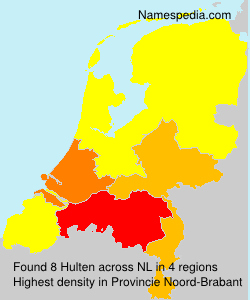 Surname Hulten in Netherlands