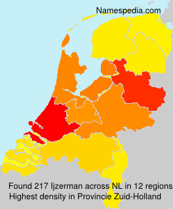 Surname Ijzerman in Netherlands