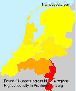 Surname Jegers in Netherlands