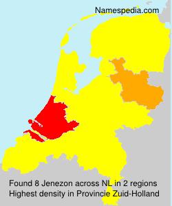 Familiennamen Jenezon - Netherlands