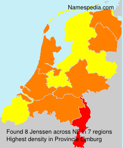 Surname Jenssen in Netherlands