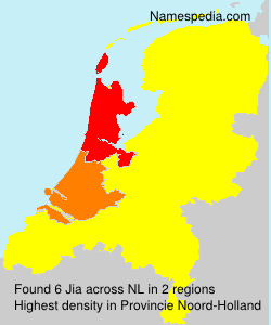 Surname Jia in Netherlands