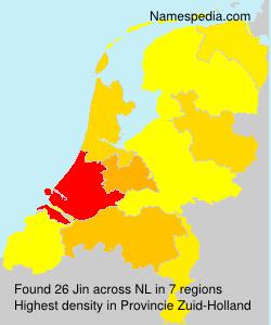Surname Jin in Netherlands