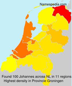 Surname Johannes in Netherlands