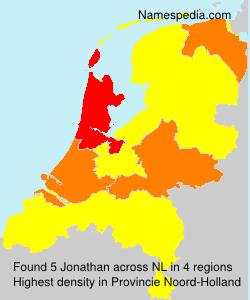 Familiennamen Jonathan - Netherlands