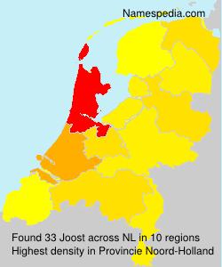 Surname Joost in Netherlands