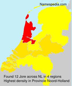 Familiennamen Jore - Netherlands