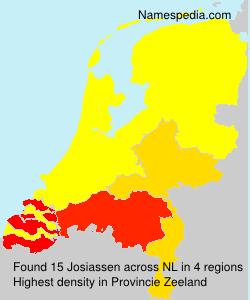 Surname Josiassen in Netherlands