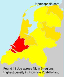 Familiennamen Jue - Netherlands