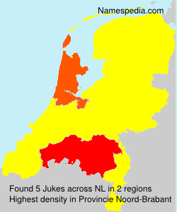 Surname Jukes in Netherlands