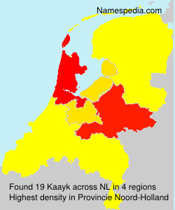 Surname Kaayk in Netherlands