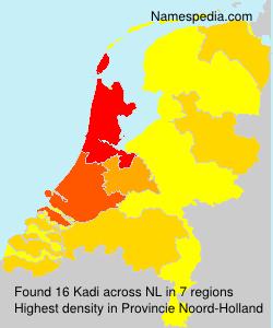Familiennamen Kadi - Netherlands