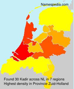 Surname Kadir in Netherlands