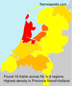 Familiennamen Kahle - Netherlands