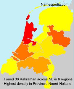 Surname Kahraman in Netherlands