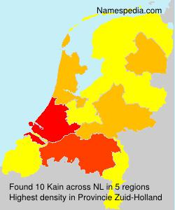 Surname Kain in Netherlands