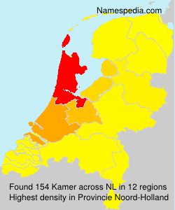 Surname Kamer in Netherlands
