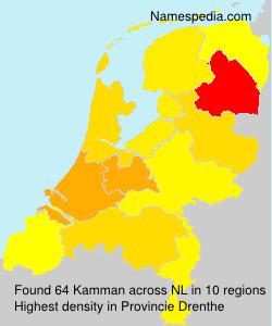 Familiennamen Kamman - Netherlands
