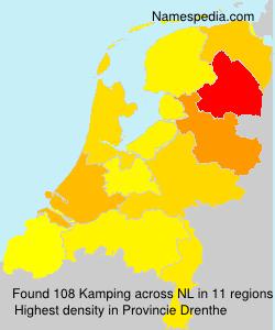 Familiennamen Kamping - Netherlands