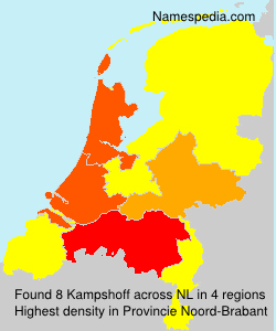 Surname Kampshoff in Netherlands