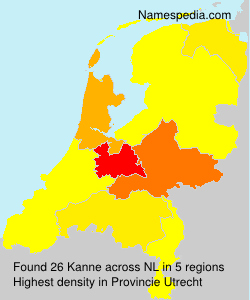 Surname Kanne in Netherlands