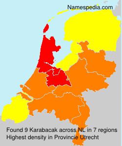 Surname Karabacak in Netherlands