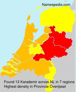Surname Karademir in Netherlands