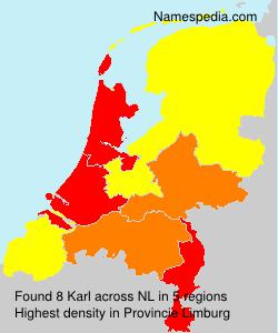 Surname Karl in Netherlands